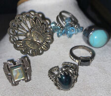 Vintage To Now  Ring Lot Of 6