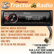 Kubota Pioneer Radio Am Fm Usb Bluetooth Rtv Rtx 1100c B2650 X1100c With Harness