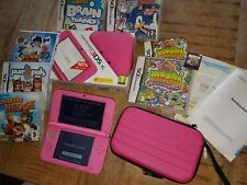 Nintendo 3DS XL Pink Handheld System, boxed with games