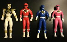 Vintage *Lot Of 4* McDonalds Power Rangers Figures White, Red, Blue, Pink 1995