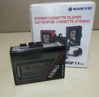 Sanyo MGP 11 Stereo Cassette Player Portable Vintage Work