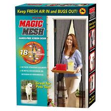 Magic Mesh magnética cortina Manos Libres neto Pantalla Mosca Mosquito Insectos Bichos Puerta