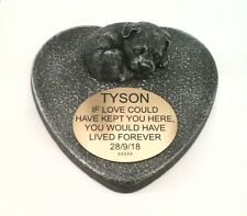 Dog Large Pet Memorial/headstone/stone/grave marker/memorial with plaque 20
