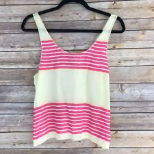 American Eagle Womens Top Woven Tank Cami Lightweight Stripes Scoop Neck XS