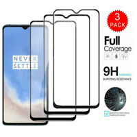 For OnePlus 7T 7 Pro 6T 6 FULL COVER Tempered Glass Screen Protector [3/2-Pack]