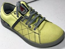 Womens Reebok Crossfit 010 Shoes Light Yellow Canvas Leather Trainers Size 9