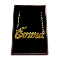 Gold Plated Name Necklace - EMMA - Gift Ideas For Her - Custom Made Jewellery