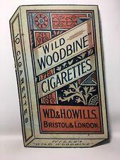 Vintage Will's Wild Woodbine Cigarettes Cardboard Advertising Shop Display Sign