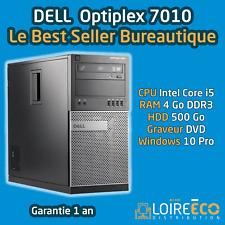 PC Bureautique i5 - DELL Optiplex 7010 - Core i5 - 4Go - 500Go - Windows 10 Pro