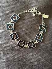 "Kate Spade Statement Style Black Spade 7"" Charm Bracelet"