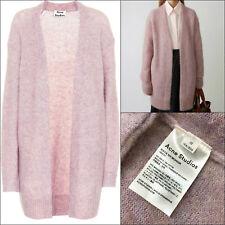 410 Acne Studios Women Raya Pink Wool Mohair Oversize Long Cardigan Size XS b2f1453f2