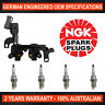 4x Genuine NGK Spark Plugs & 1x Ignition Coils for Hyundai Accent LC Elantra XD