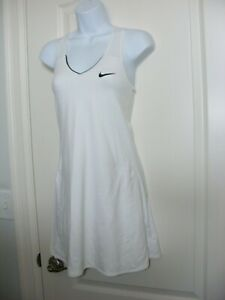 WOMEN'S XS NIKE DRI-FIT WORN X 1 TENNIS DRESS GOLF WHITE