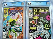 Marvel FANTASTIC FOUR #295 & #297 CGC 9.0 VF/NM White Pages Roger Stern 1986