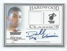 2004-05 Fleer Throwbacks Dorell Wright Hardwood Classics JERSEY AUTO RC 3/50