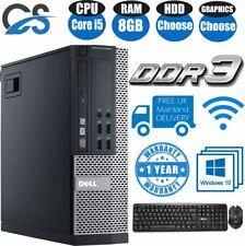 DELL Optiplex 790/390/7010/9010 Intel Core i5 1TB 8GB DESKTOP COMPUTER WINDOW 10
