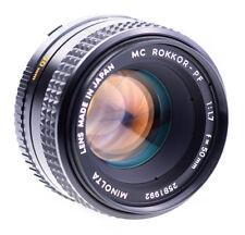 Minolta MC 50 mm f 1,7 Rokkor - PF mit Minolta SR Anschluss SN 2581992 Geprüft