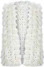 Monsoon Accessorize Knit and Faux Fur Gilet Ivory Size S / M