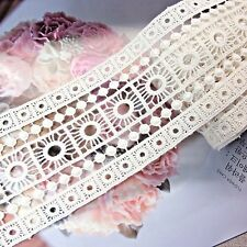 Embroidery Cotton Crochet Lace Trim 8cm Wide High Quality 1 yard
