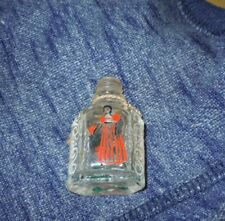 ANTIQUE HAND PAINTED MINIATURE GLASS PERFUME BOTTLE SHULTON EARLY AMERICAN