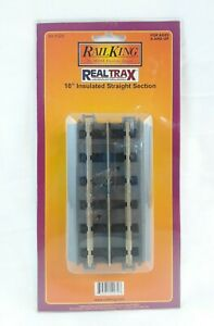 MTH Rail King 10 Inch Insulated Straight Track Section O Gauge 40-1029