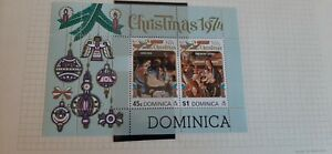Dominica 1974 Christmas Stamps  Miniature Sheet