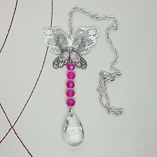 Butterfly Suncatcher Handmade Choose your Colour Beads Sun Catcher