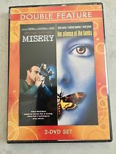 Brand New, DOUBLE FEATURE, 2 DVD SET, MISERY, THE SILENCE OF THE LAMBS 2 DVD SET
