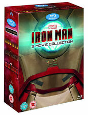 Iron Man 1-3 Trilogy (Blu-ray, 3-Disc Set, Box Set) never used Ref:A4
