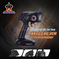 NEW AUSTAR AX5S 2.4G 3CH AFHS Radio Transmitter with Receiver for RC Car Boat