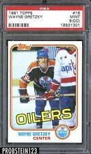 1981 Topps Hockey #16 Wayne Gretzky Edmonton Oilers HOF PSA 9 MINT (OC)