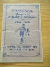 More details for 1945 england v scotland football programme @ villa park