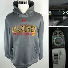 UNDER ARMOUR United States Marine Corps Men's XL Gray Cold Gear Hoodie Jacket