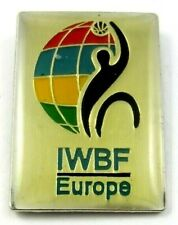 (IWBF) Europe International Wheelchair Basketball Federation Official Logo Pin