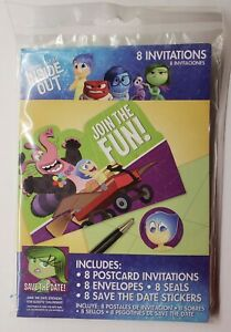 Disney Pixar Inside Out Birthday Party 8ct Invitations Seals Save The Date
