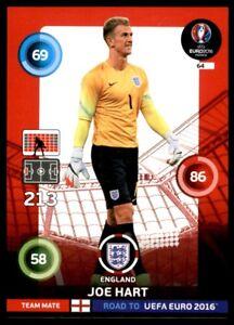 Panini Road to EURO 2016 Adrenalyn XL Card 64 England No. 64