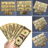 7 PCs/Set Art Antique Collection Dollars Ancient Gold Plated Gifts Dollars Money