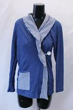 The Mommy Wrap Women's Long Sleeve Polka Dot Knit Baby Wrap Sh3 Blue Large Nwt