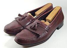 Florsheim Mens Brown Leather Kiltie Tassel Slip On Moc Toe Loafers Shoes (11.5C)