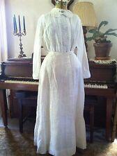 Vintage 1900's Cotton Edwardian SKIRT & Blouse beautiful details 38-28-54
