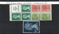 N.F. field force military cancels  stamps ref 12707