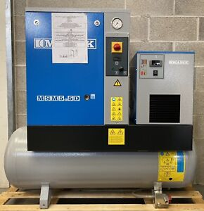 New! Mark MSM5.5 Receiver Mounted Rotary Screw Compressor With Dryer! 27.5Cfm!