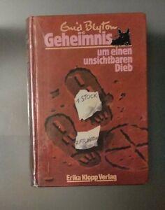 Enid Blyton Geheimnis um einen unsichtbaren Dieb Erika Klopp Verlag Geb. 1989