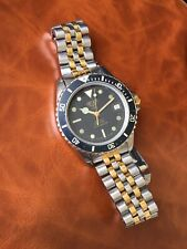 Rare Vintage Heuer (pre Tag) Heuer 1000 Professional Diver's Watch Bi-Metal Gold