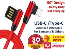 Type-C USB Charger Cable Lead Cord RED 1M for Samsung Galaxy S8 Plus Note S9