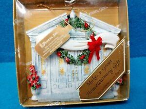 """Roman Inc, Entrance Door Ornament~Christmas~Housewarming Gift~4""""x4""""~NOS"""