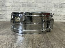 """Pearl Mirror Chrome Steel Shell Snare Drum 14""""x5.5"""" 8 Lug / Hardware #SN1040"""