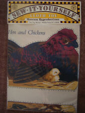 Hen & Chicken -Vintage Sew-it-yourself Cloth toy doll - THE TOY WORKS U.S.A