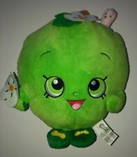 "Shopkins Green APPLE BLOSSOM Plush Pillow Stuffed Toy 12"" EUC"