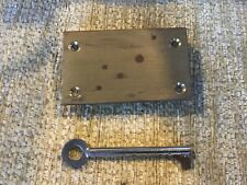 """Vintage brass lock and key for chest drawers size 3"""" X 1 3/4"""" working"""